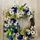 Thumbnail: Blue /green daisies wreath