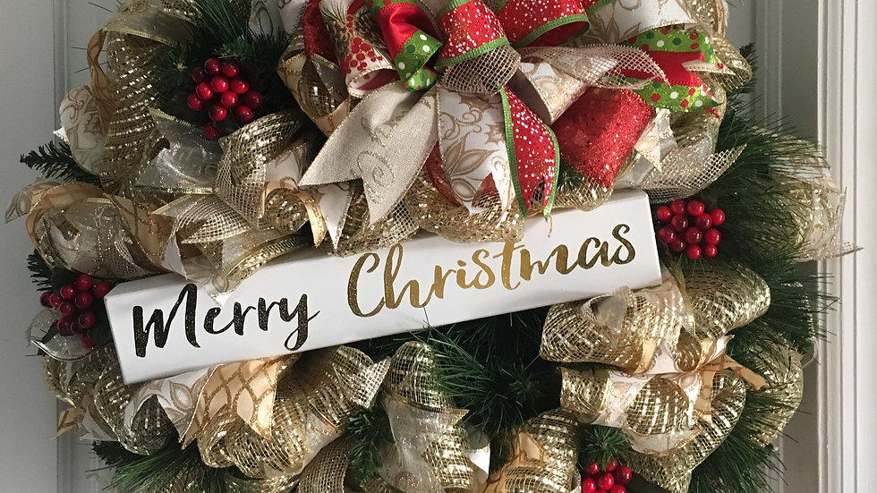 Merry Christmas Gold Theme