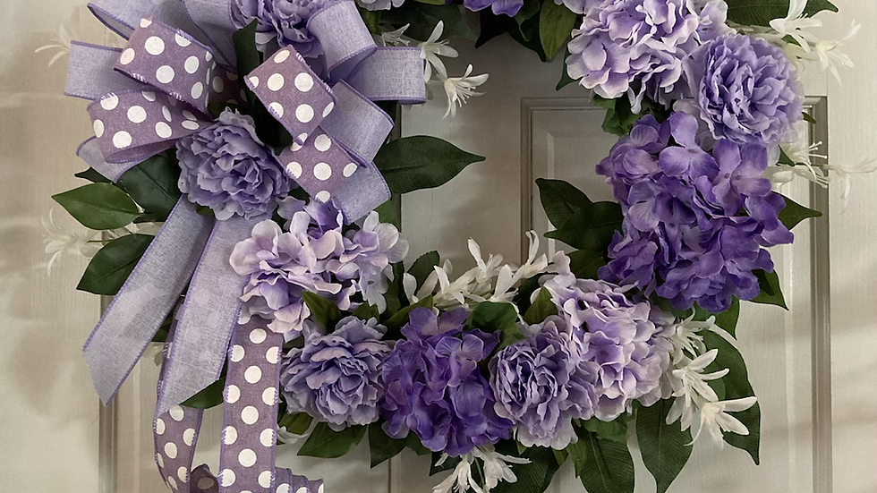 Purple/Lavender Hydrangea Wreath