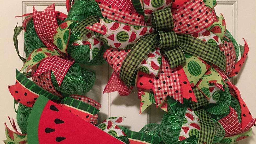 Watermelon Wreath