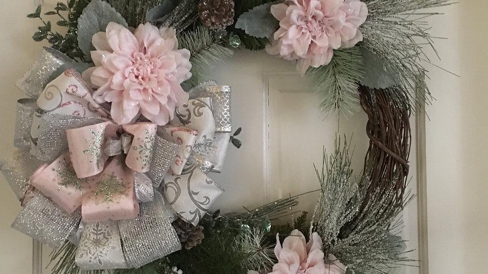 BabyPink Christmas Wreath