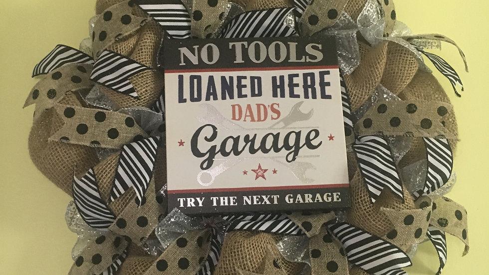 Dads Garage Wreath