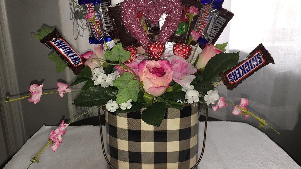 Valentine's Day Chocolate centerpiece