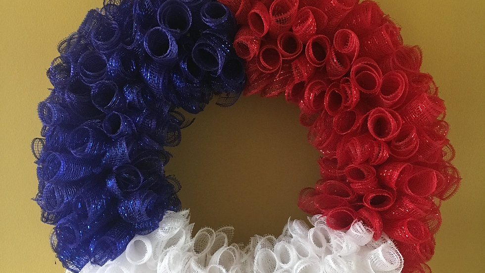 Memorial/4th of July Wreath