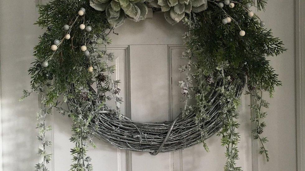 Succulents in Wonderland Wreath