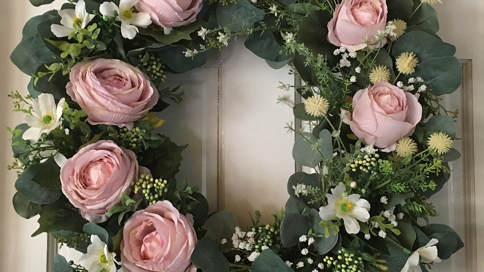 Eucalyptus &Rose Wreath