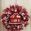 Thumbnail: I Love U Valentine's Wreath