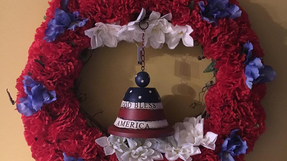 Memorial/ 4th of July Grape Vine Wreath