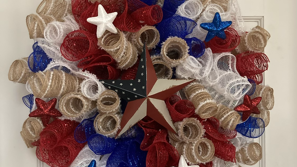 Patriotic Wreath with Star
