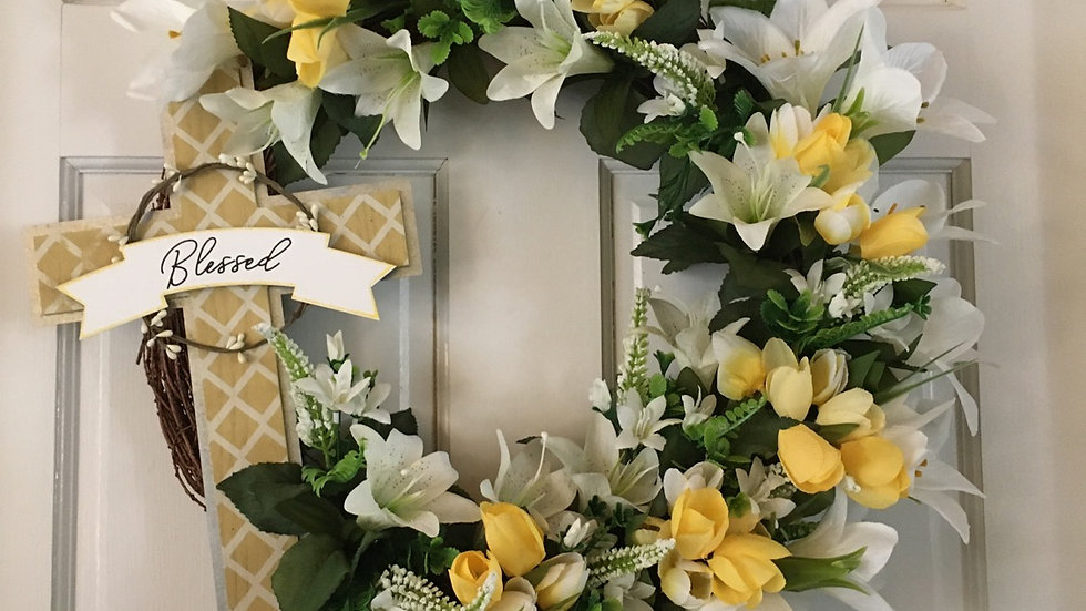 Blessed Easter Wreath