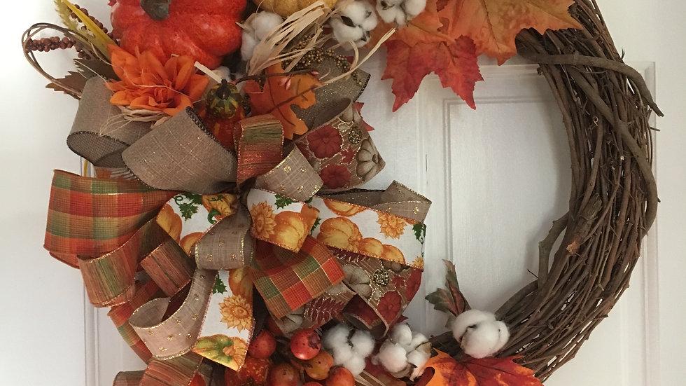 Happy Thanksgiving wreath