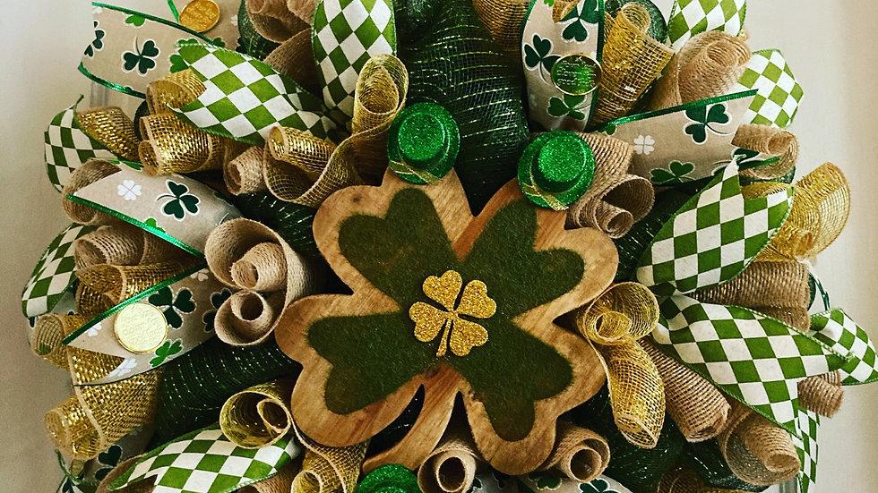 St. Patrick's Shamrock Wreath