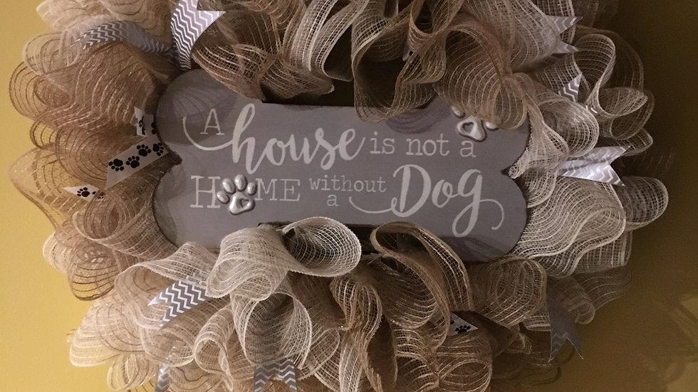 Animal Theme wreath,  Door Hanger, Front Door  Wreath