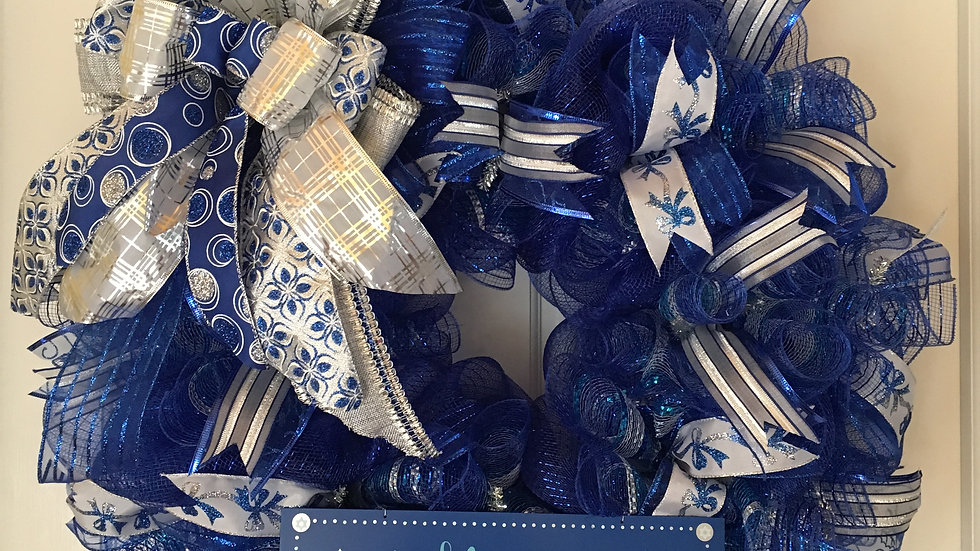 Happy Hanukkah Wreath