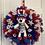 Thumbnail: Patriotic Wreath with Dangling Bear