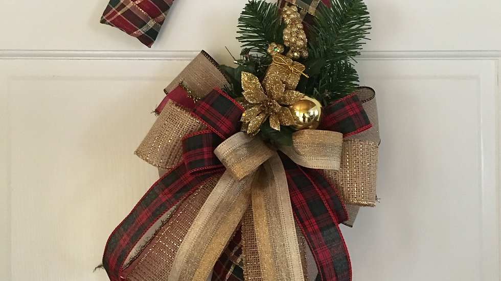 Rustic Candy Cane Wreath