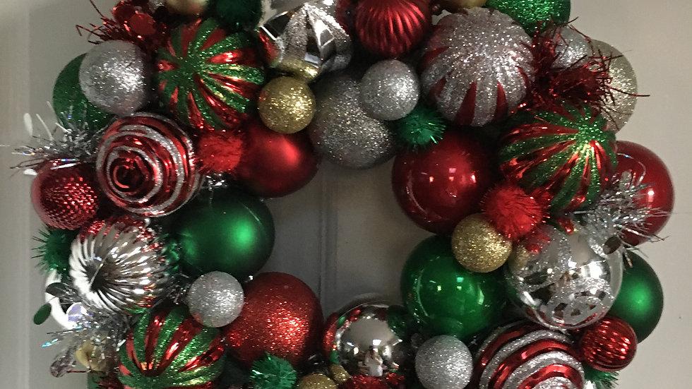 Christmas Ball Wreath