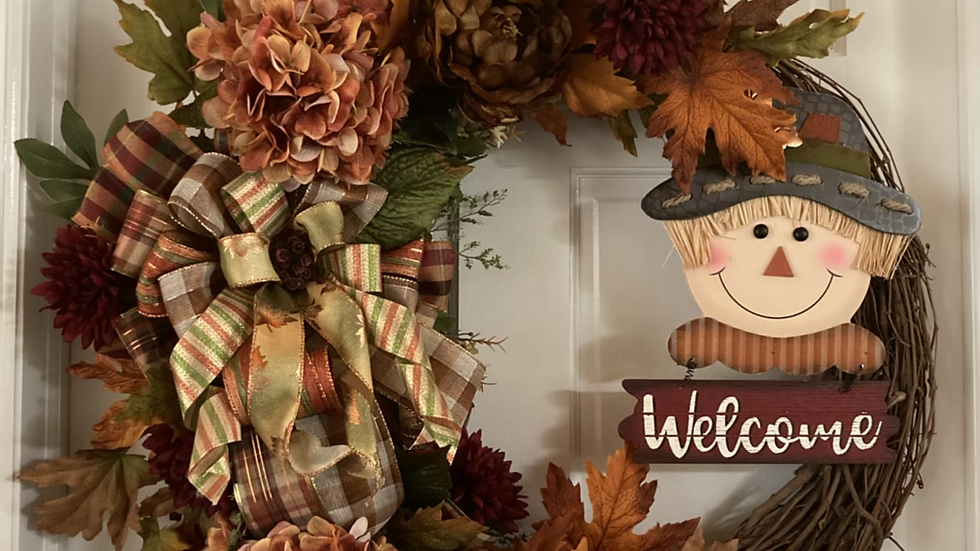 "Welcome Fall Wreath 30""x 30"""