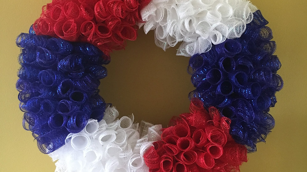 Memorial/4th of July Wreath