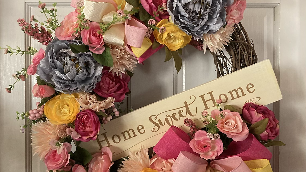 Home Sweet Home Floral wreath