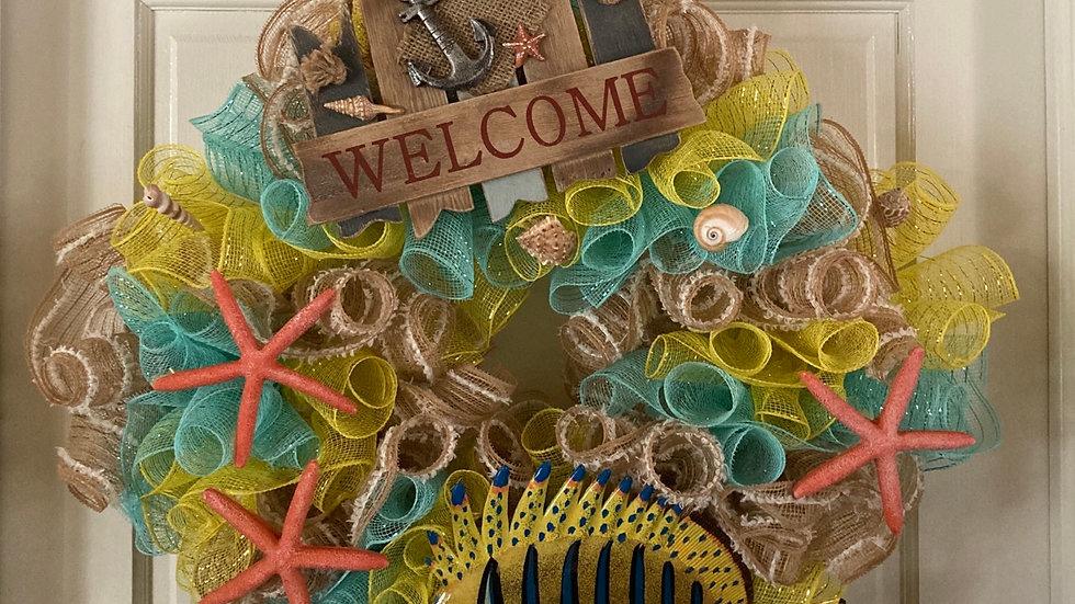 Welcome Nautical wreath