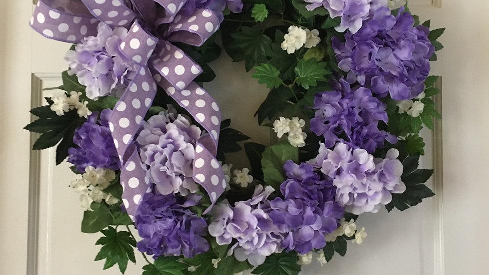 Purple and lavender lavender hydrangea