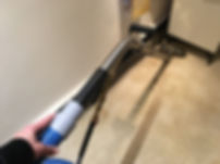 Carpet cleaning wand extracting pet stains