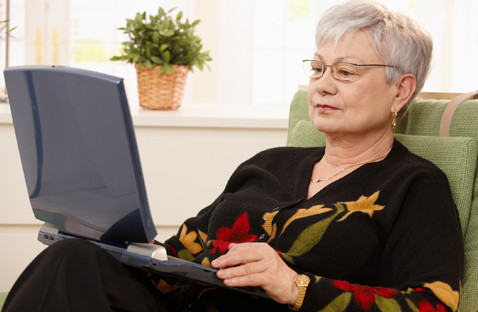 Older Woman Searching on the Computer