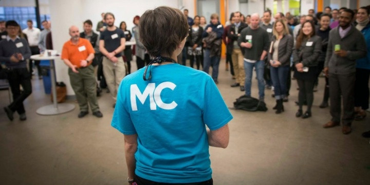 MassChallenge - Back of shirt and group