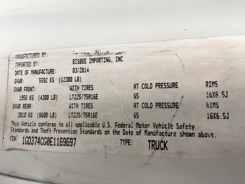 2014 GMC Savana 3500 16ft Box Truck