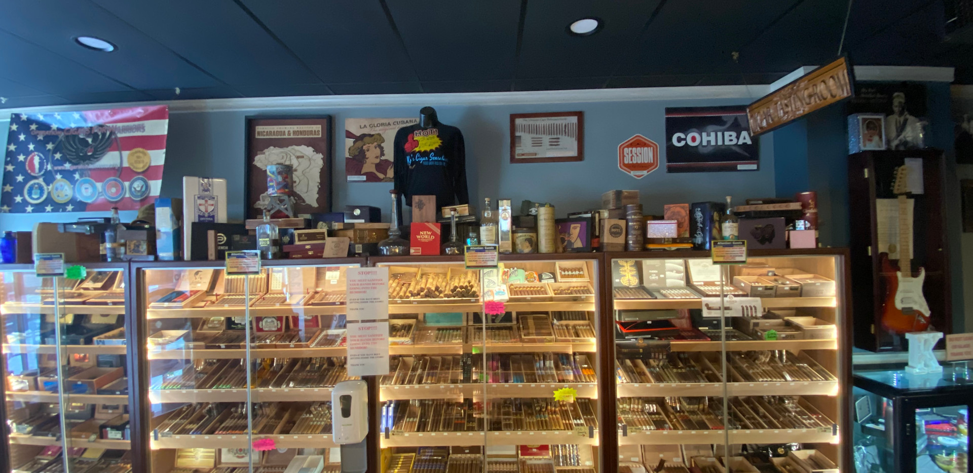 Large Selection of Premium Cigars