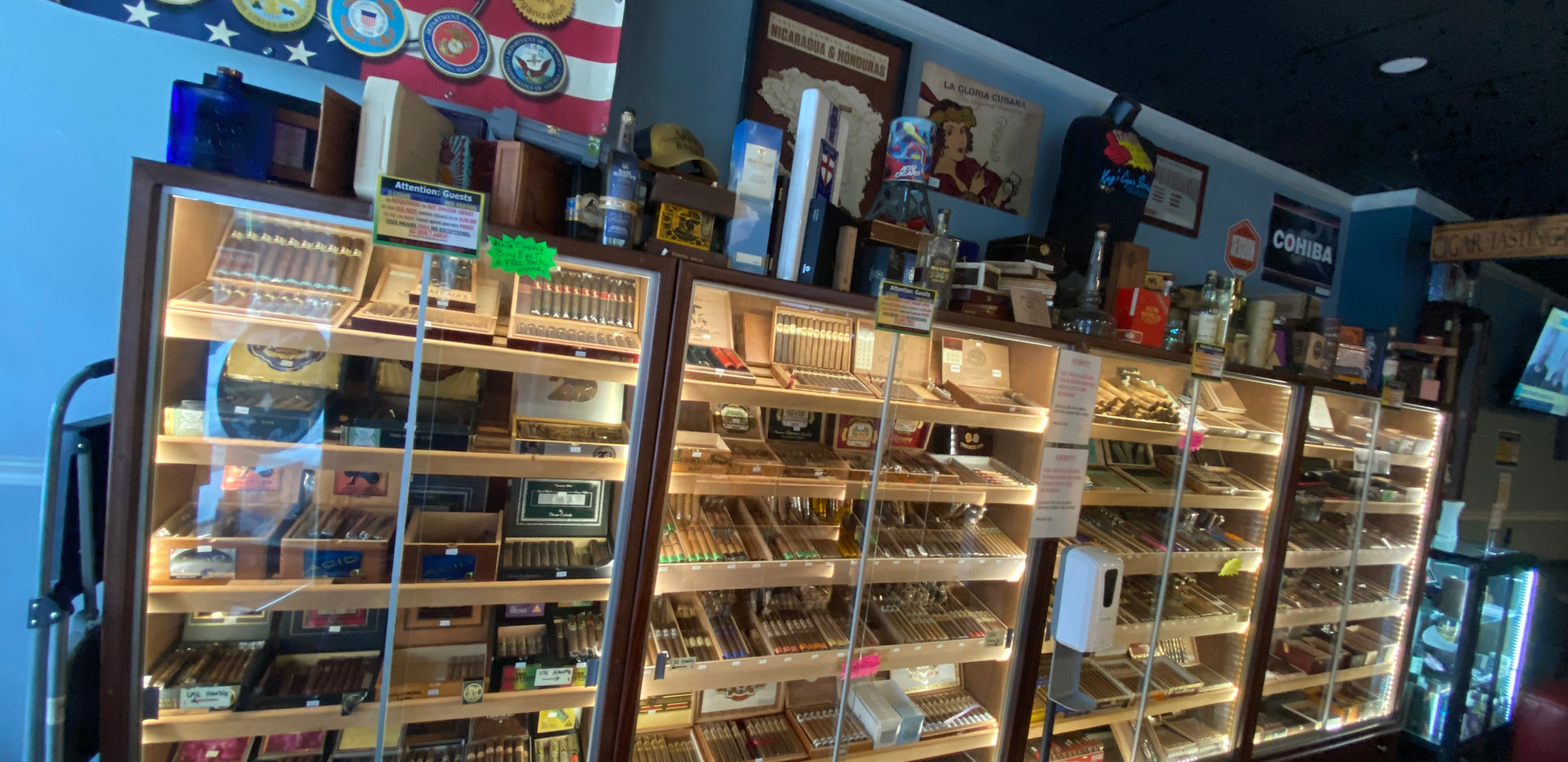 Over 350 Premium & Boutique Cigars