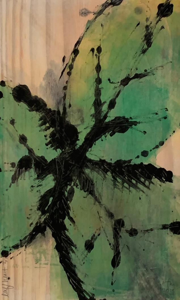 monoprint leaf/heart 3