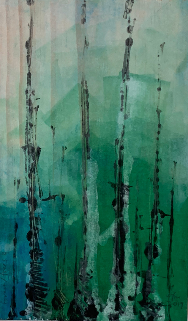 monoprint forest/trees 4