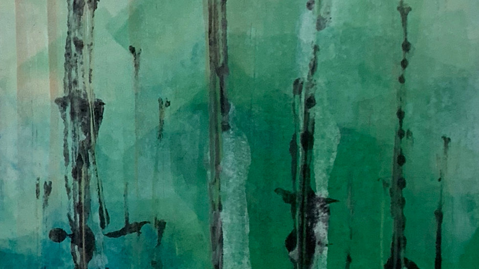 monoprint forest/trees4