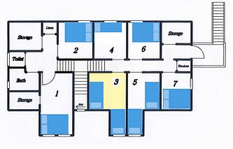 Upstairs room map of Inn