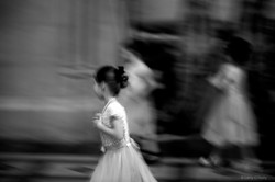 Girl in Cathedral, Pearls