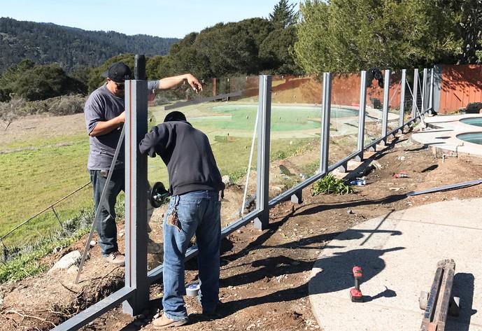 New Fence in Progress