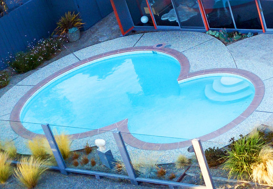 After: Completed Pool (aerial view)