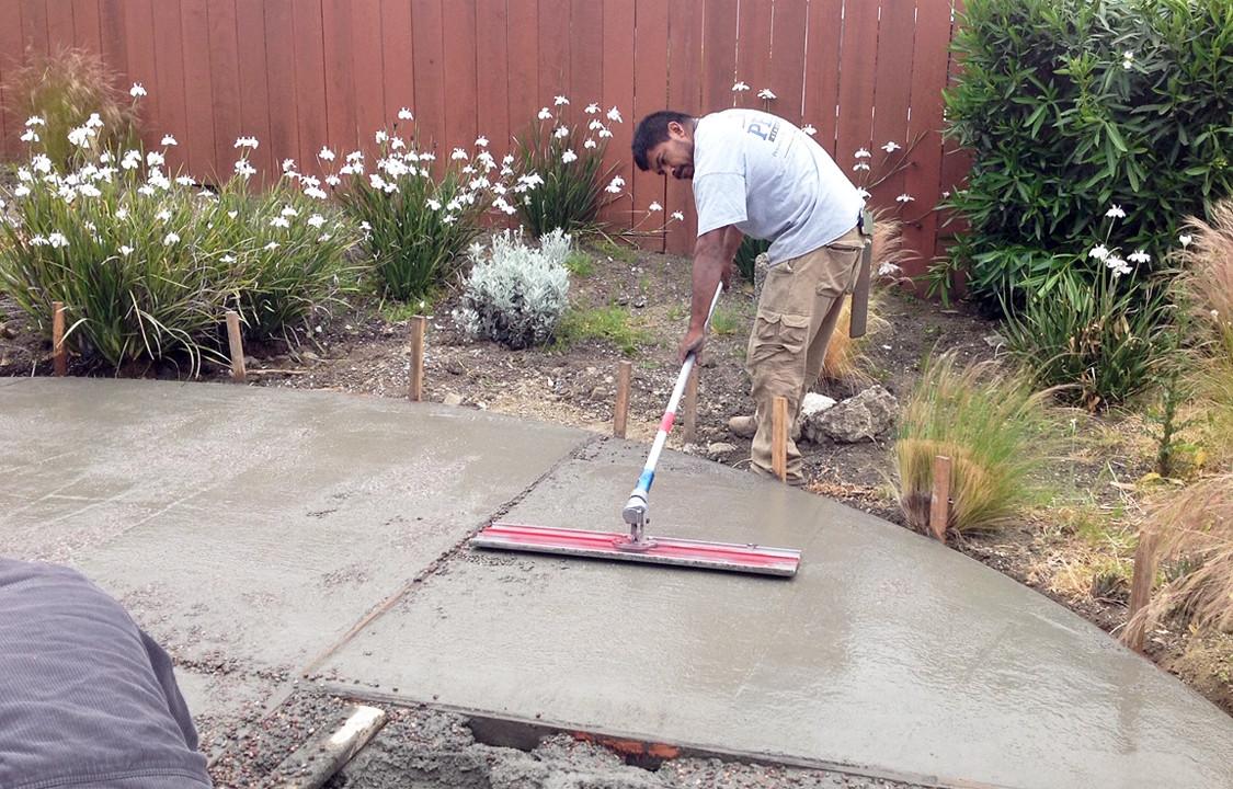 Leveling Concrete Pour