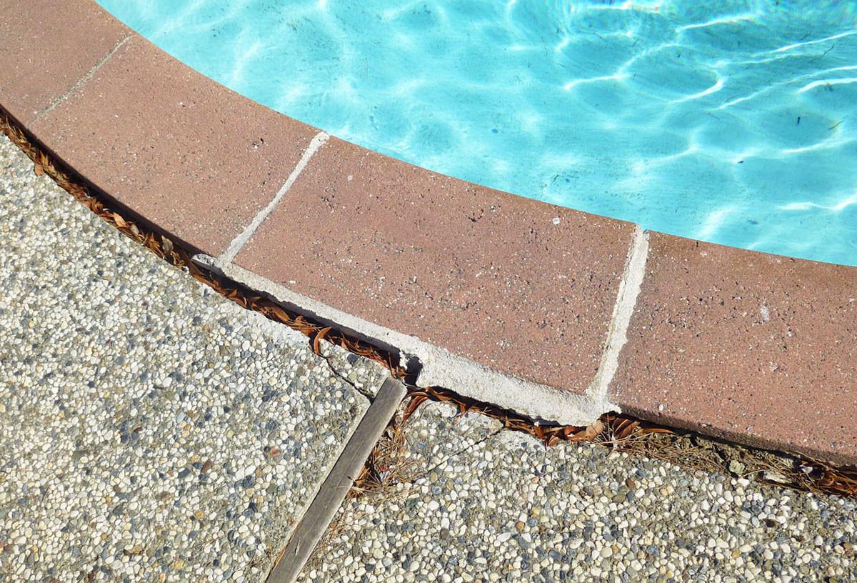 Before: Pool Damage