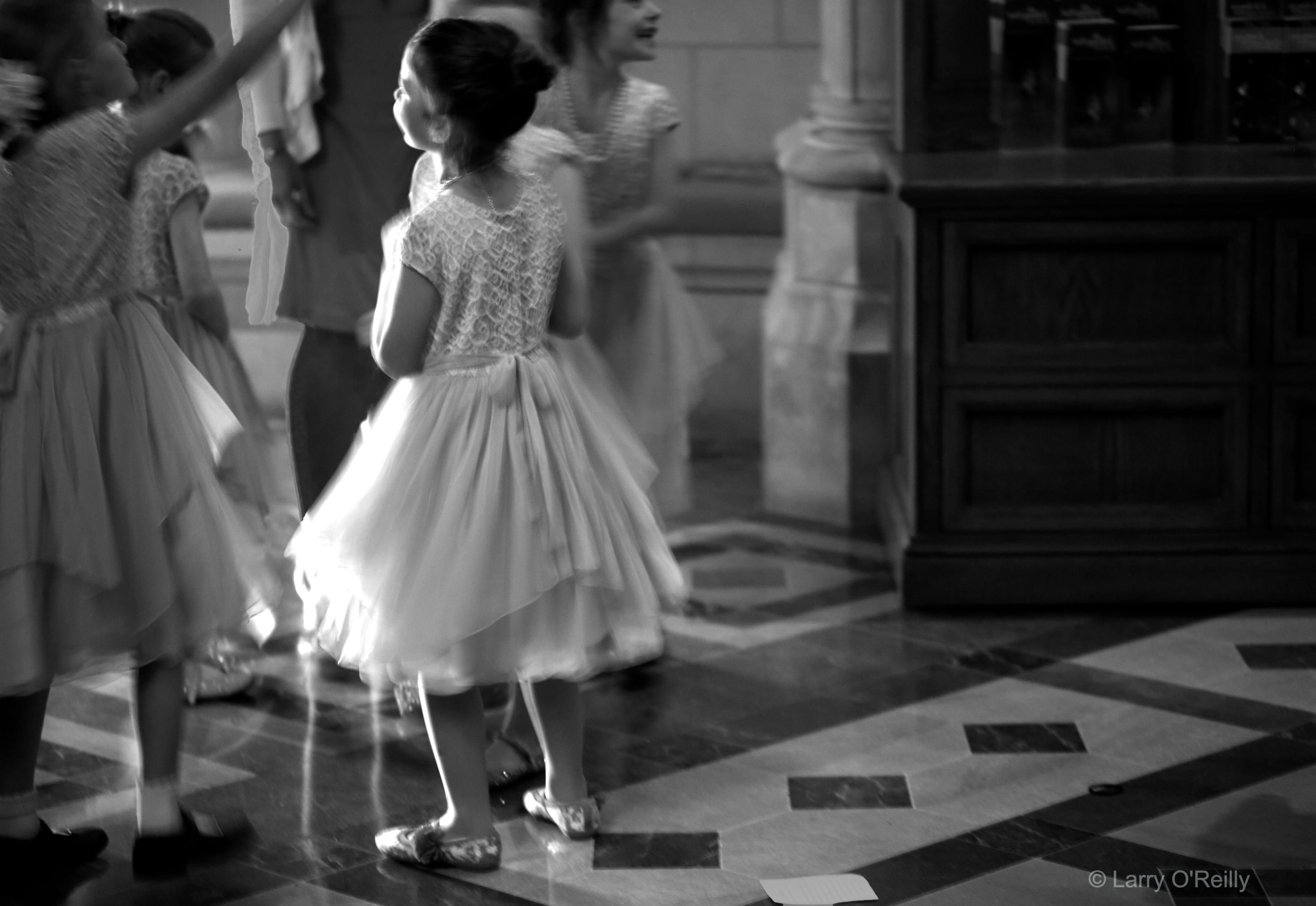 Girl in Dance Dress, Cathedral