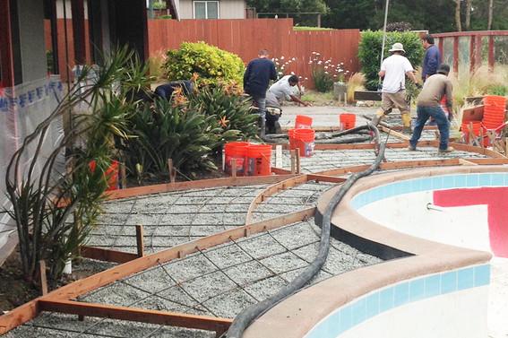 Prepping for Concrete Pour