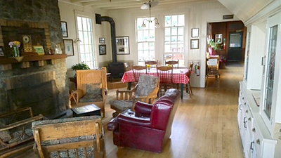 Entry parlor of West Point Inn