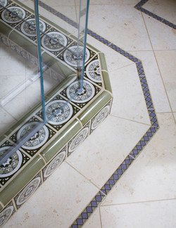 shower floor detail