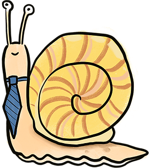 illustration of snail wearing a tie