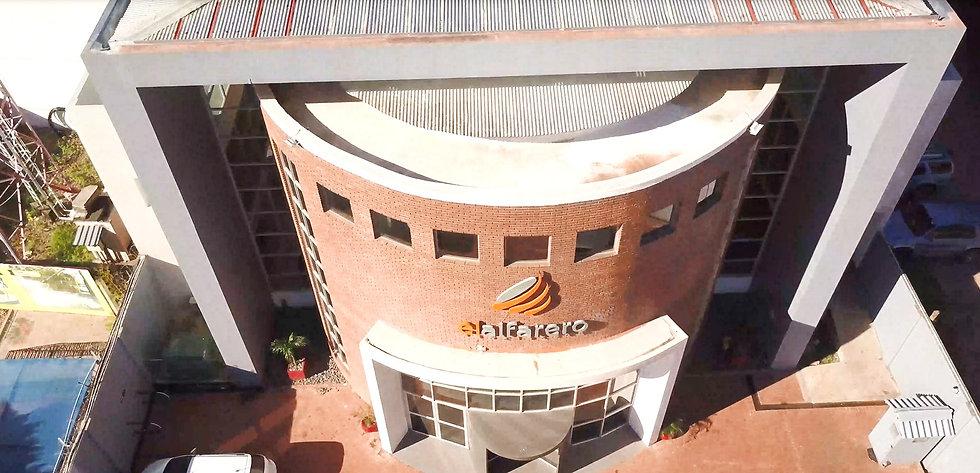 Aerial view of the El Alfarero building in Santa Cruz, Bolivia