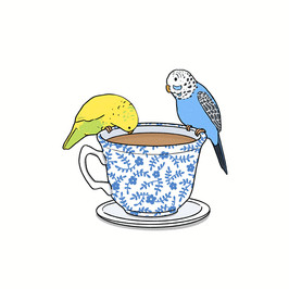 Canary birds and a cup of tea