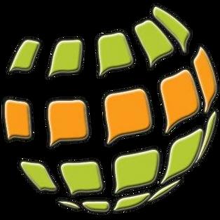 Logo en forma del planeta