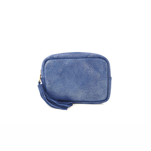 Formentera Purse - Metallic Cobalt